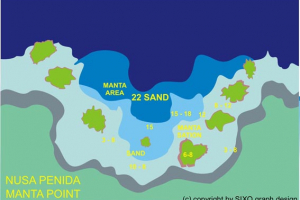 Tauchplatzkarte: Manta Point - Nusa Penida